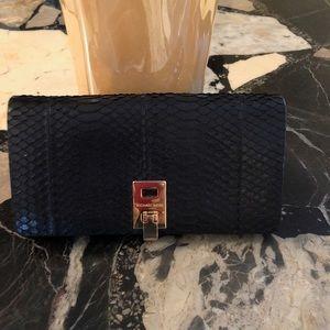 Michael Kors real snakeskin clutch/wallet